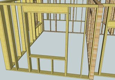Схема окна в каркасном доме