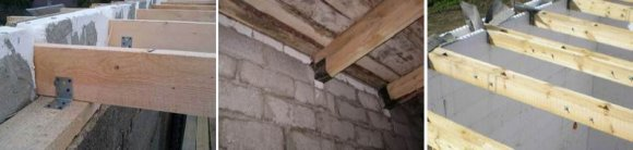 Крепление деревянных балок перекрытия к несущей стене