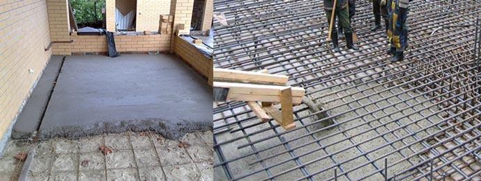 Залив и укладка бетоных полов