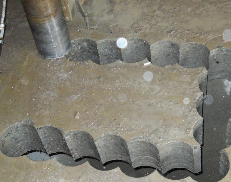 Алмазное бурение отверстий в бетонном полу
