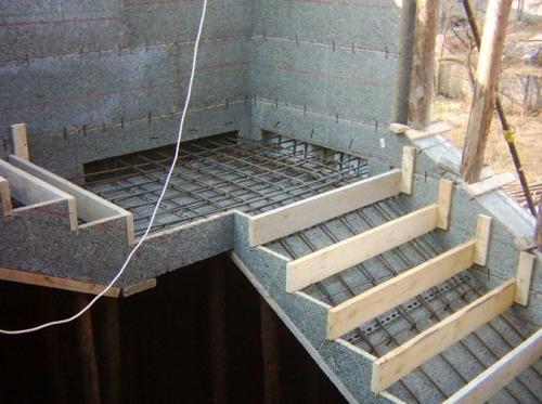 Каркас железобетонной лестницы