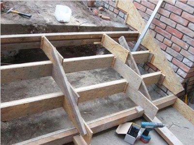 Опалубка бетонной лестницы