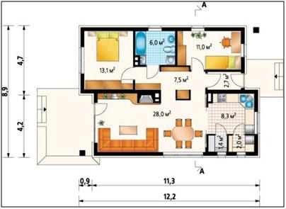 dom iz penobetona