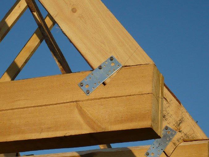 укрепление конструкции стропил