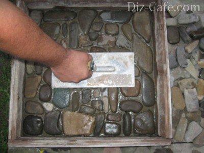 Трамбовка камней