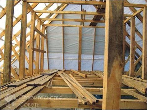 Стропильная конструкция крыши