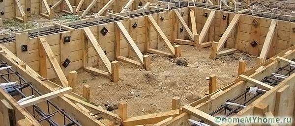 Надежность конструкции зависит от качества работ по созданию опалубки