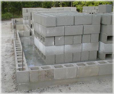 Возведение блочной конструкции