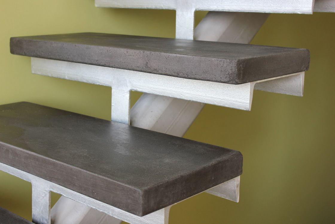 Бетонные накладные ступени на металлическом каркасе