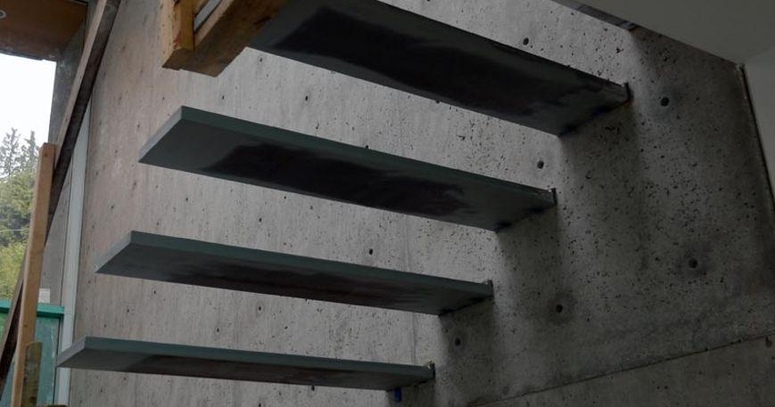 Почти готовые ступени – вид снизу