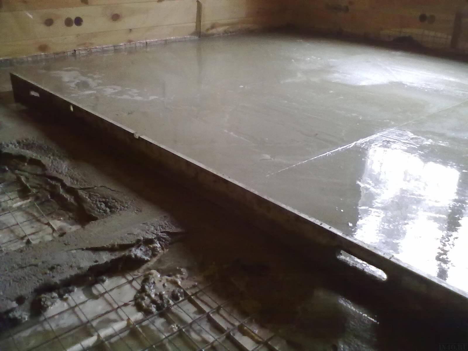 Стяжка бетонным раствором