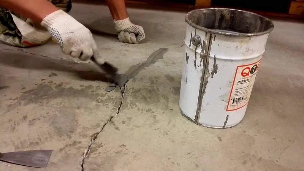 Трещина в бетонном полу гаража