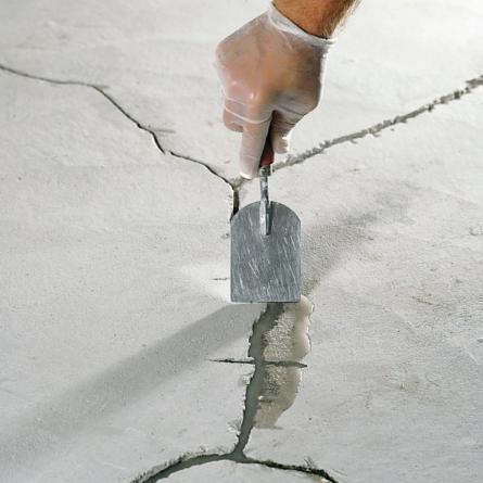 Ремонт трещин в полу